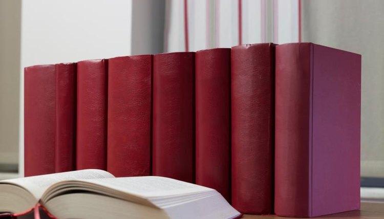 Row of encyclopedias.