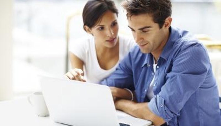 Couple looking up tax information