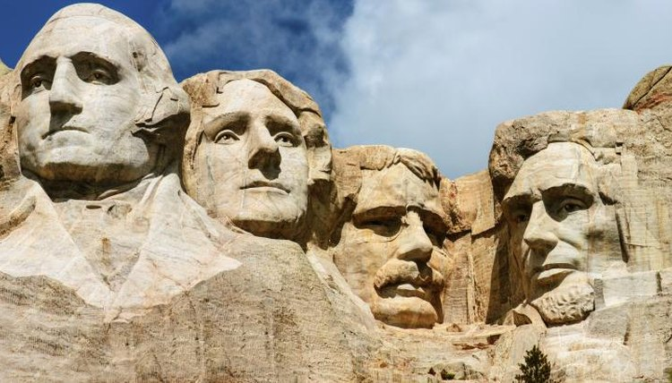 Four presidents are immortalized on Mt. Rushmore.