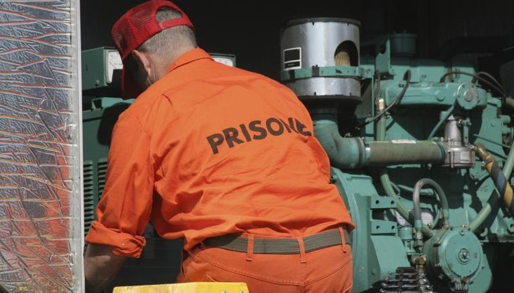 A prisoner, an industrial trade