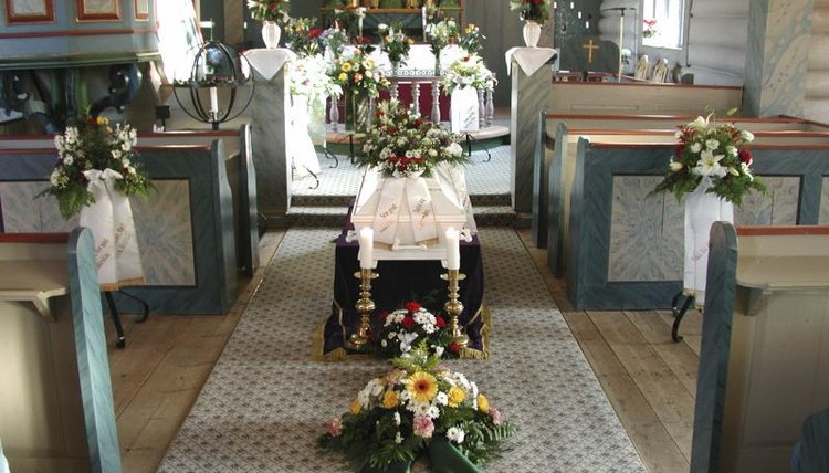 Arranging the funeral may be part of the executor's duties.