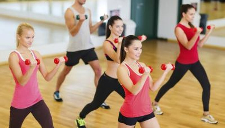 This group is all together, and they are altogether devoted to exercise.