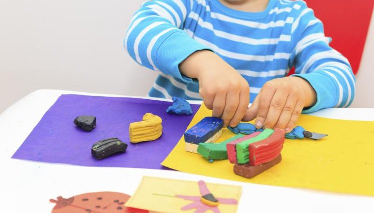 Train-related activities help kindergartners relate to the story.