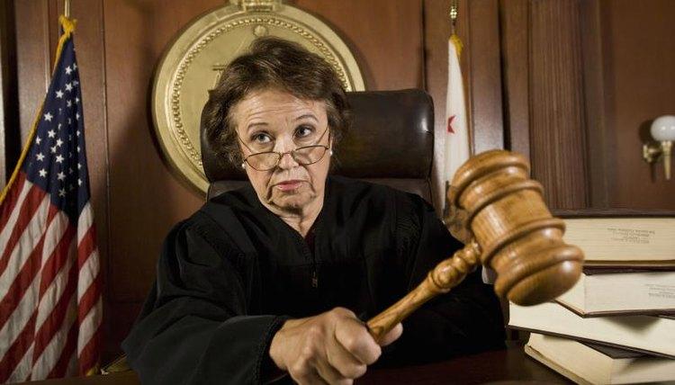 Judge using a gavel.