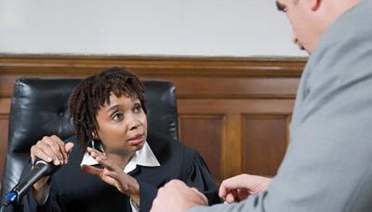 a discussion, a judge