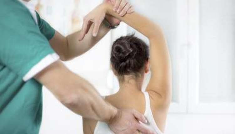 Woman receiving chiropractic help
