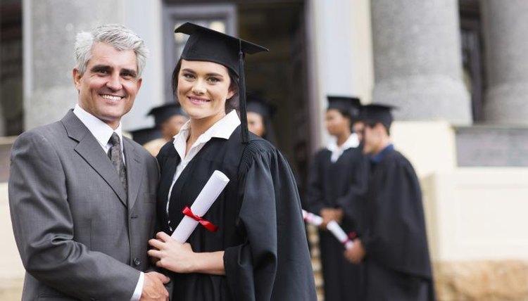 Graduate student holding degree