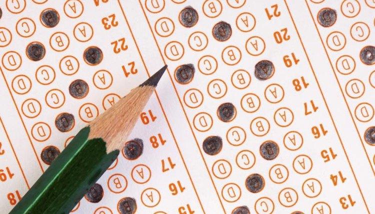 A standardized test form.
