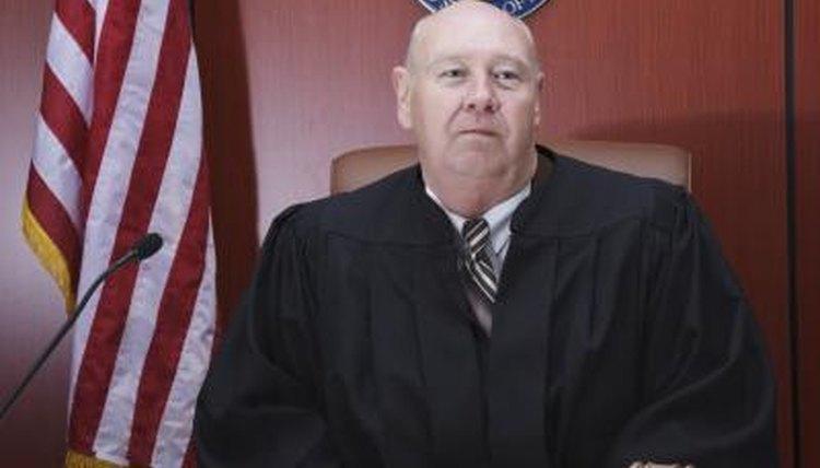 Judge in robe