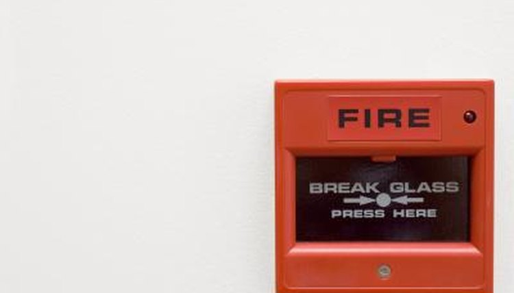 Red fire alarm.