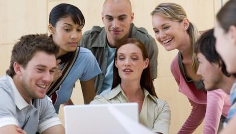 Group work in a classroom can encourage student involvement.