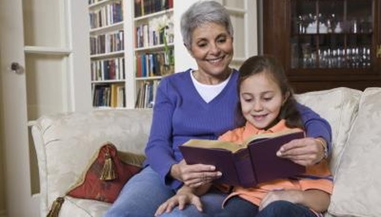 Reading with a child can build her language and communication skills.