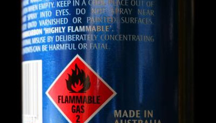 Flammable gas warning.