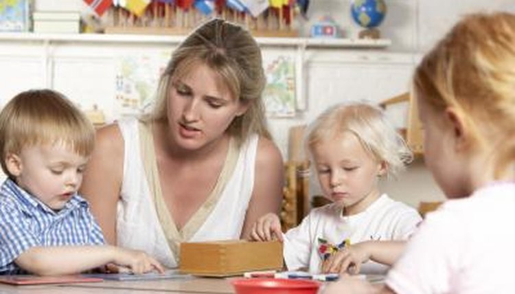 Montessori preschools value the indepedent learning of each child.