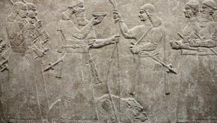 An ancient Assyrian relief circa 860 BC