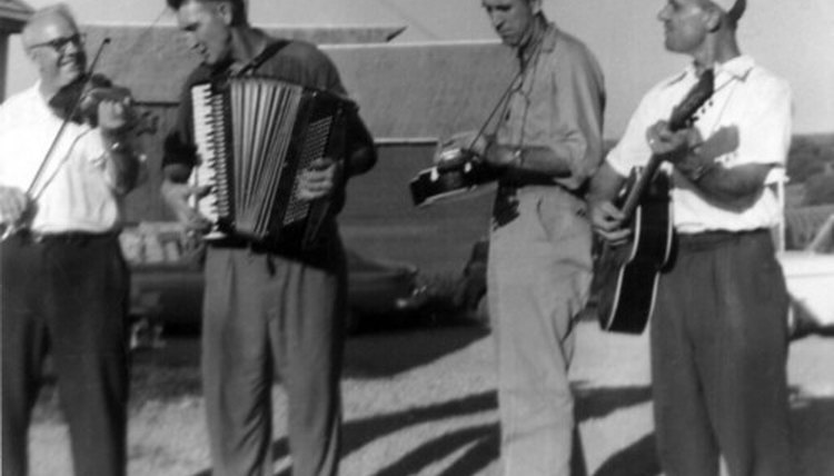 The guitar, fiddle and accordion are popular instruments in Irish music.