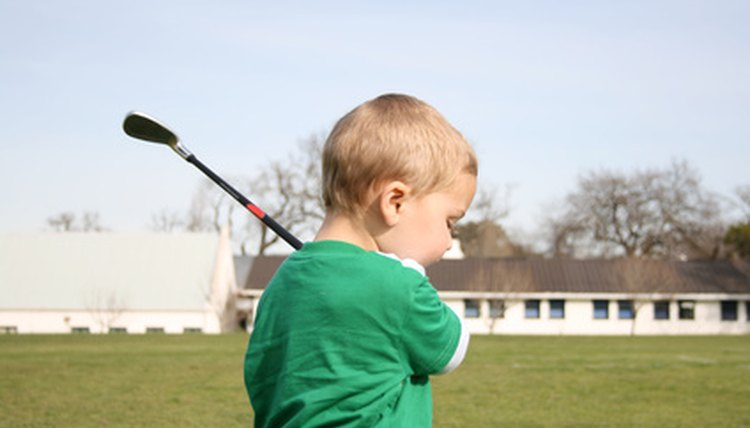 Even young children can learn the basics of golf.