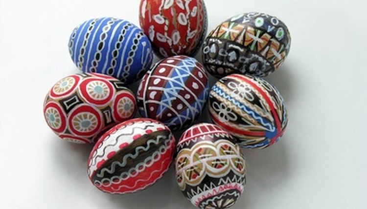 Pysanky are elaborately decorated Easter eggs.