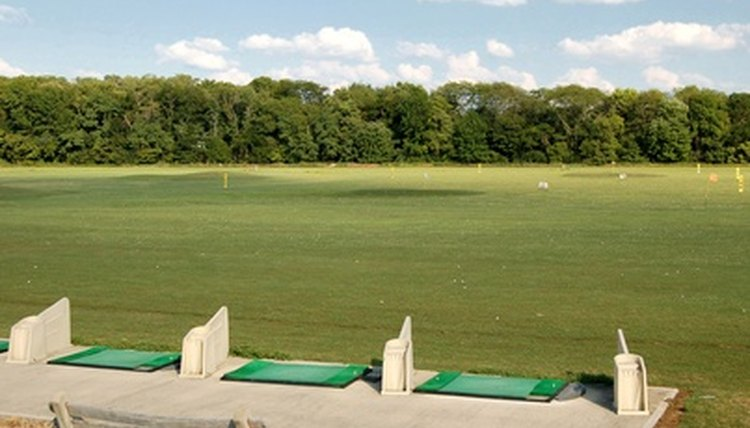 Spend plenty of time on the driving range to improve your swing.