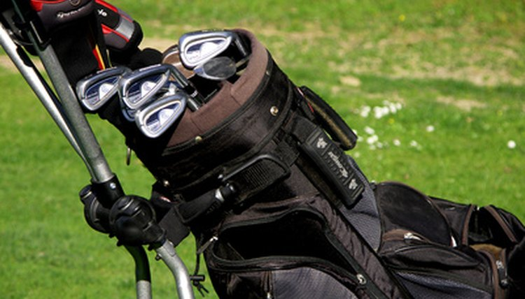 Organizing your bag can help prevent clubs from falling out.
