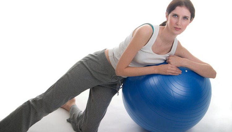 A stability ball can strengthen your core, improving your golf game.