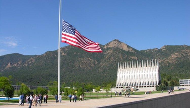 The flag at half-staff.