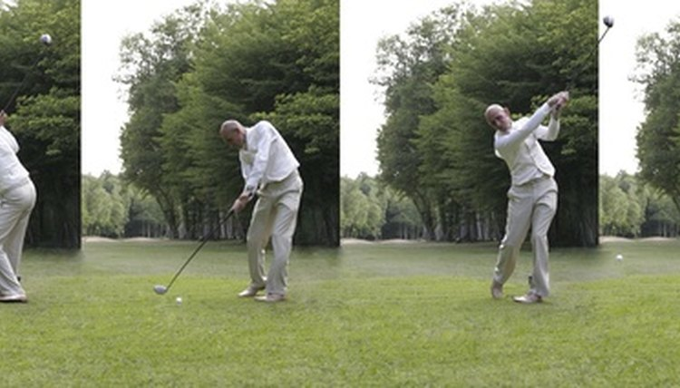 Hitting a golf ball is made simpler in this step-by-step guide for beginners.