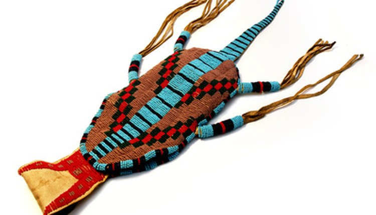 The Shoshone make intricate bead work.