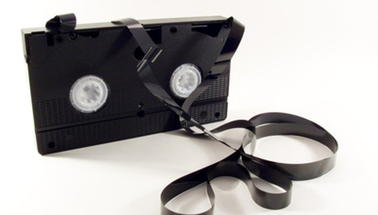 Recycle your VHS tapes by giving them to charity or giving them a new purpose.