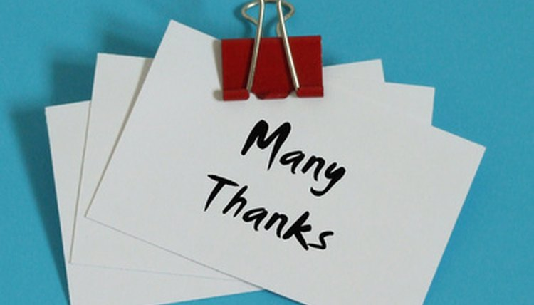 Send a thank you note to your dance teacher to show your gratitude for her help.