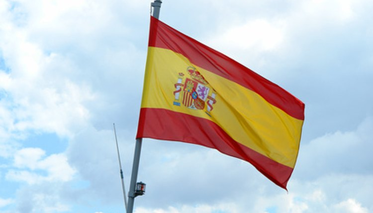 The official flag of Spain