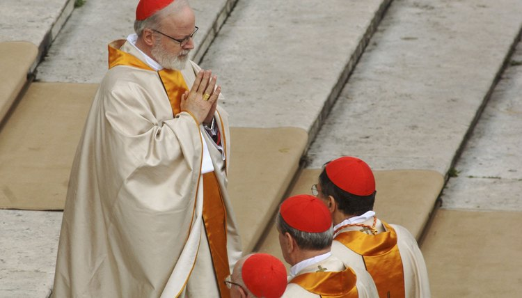 A pope attends a religious ceremony.