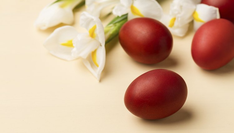 Greek Orthodox Easter eggs are traditionally red to symbolize the Blood of Christ.