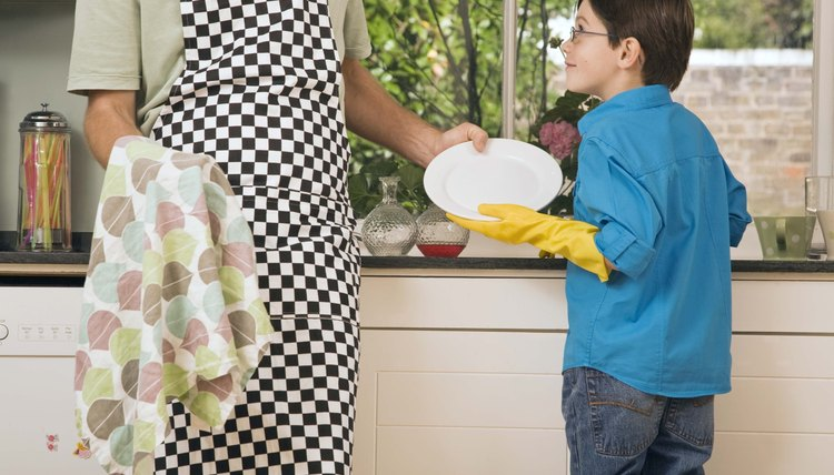 Preserve your little one's nice clothes, and give your child some spunk with a decorated apron.