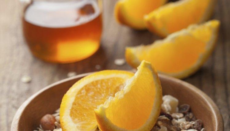 muesli with oranges and honey