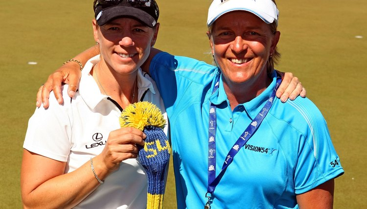 Pia Nilsson, right, worked as a mental coach for Annika Sorenstam, left.