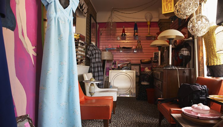 Thrift store with clothes and home goods