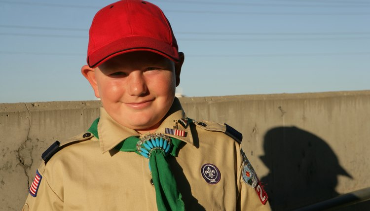 Portrait of young boy scout.