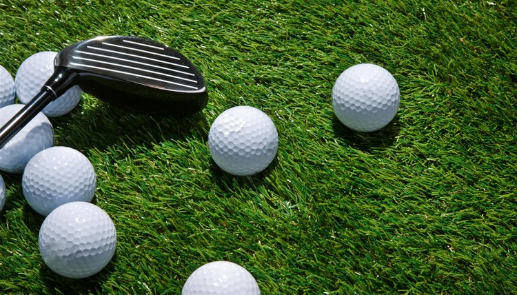 Personalize golf balls to add a bit of humor to the game.