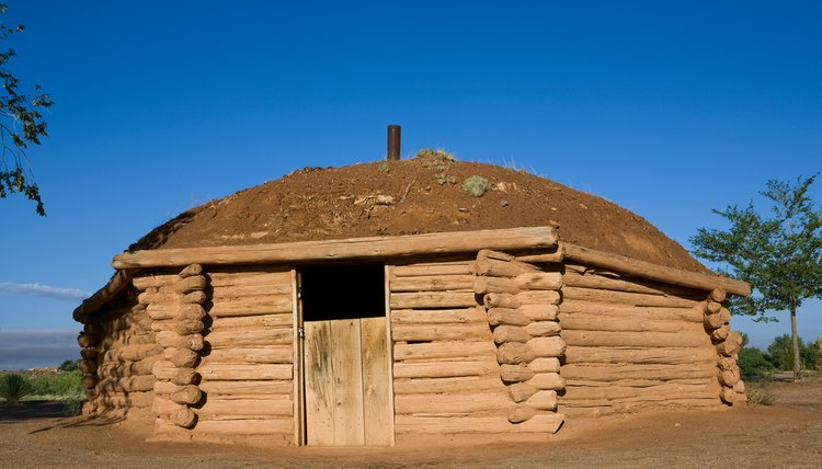 One type of hogan has a polygonal shape and log or stone walls.