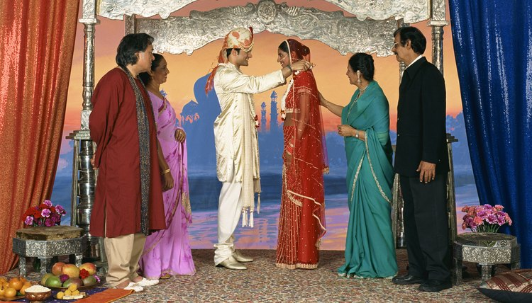 Hindu weddings and rituals are performed under a blessed mandap.