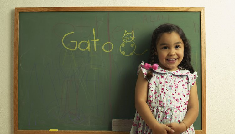 Students who learn a foreign language in elementary school score better on standarized tests.