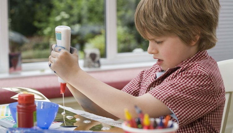 A variety of art supplies allow your preschooler to get creative.