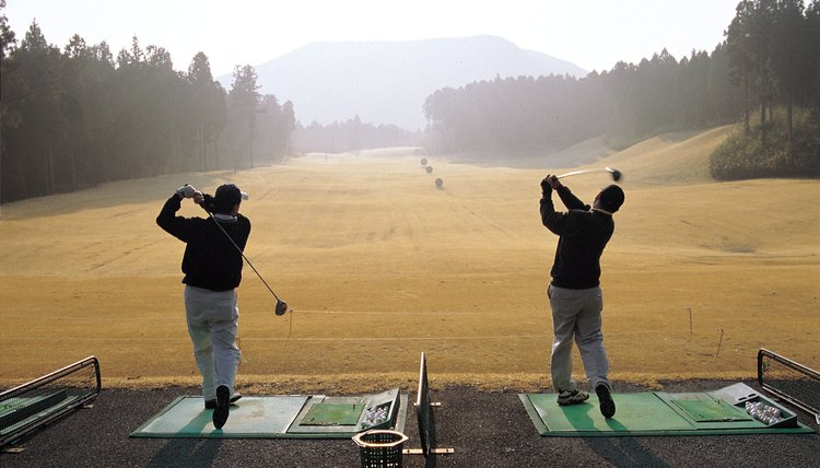 Driving ranges are a less expensive alternative to practicing on the course.