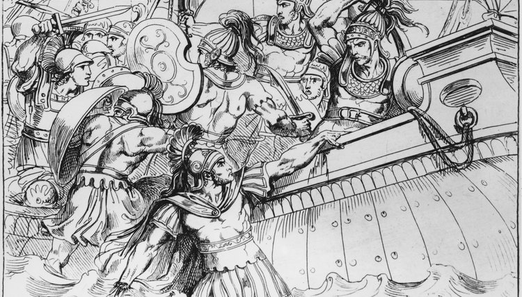 At Marathon, Greek hoplites pursued the defeated Persians back to their ships.