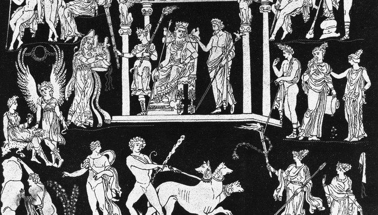 Ancient Greek Artwork telling story of Hades