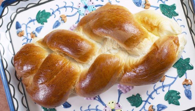 Jews eat challah bread during Sabbath meals.