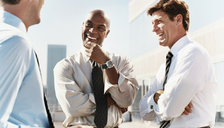 Three Businessmen Laughing Together