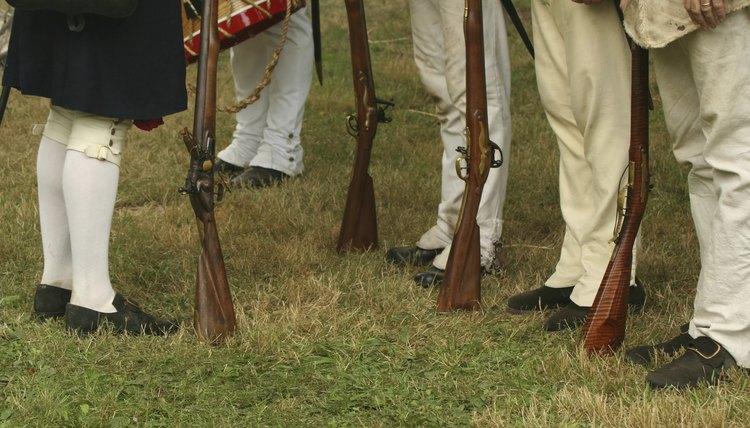 An American Revolutionary War reenactment.