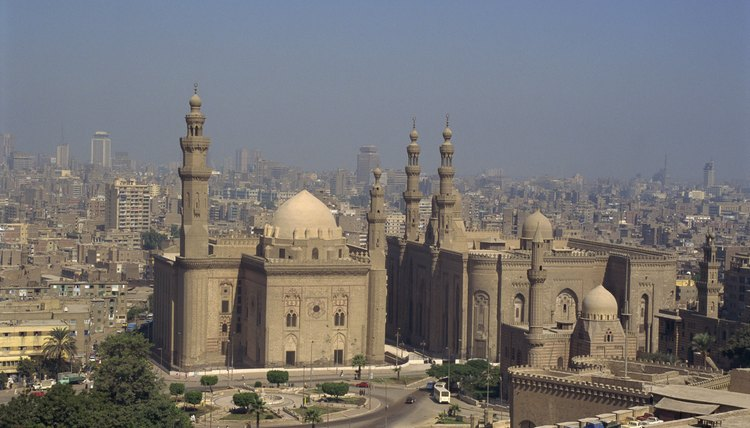 The skyline of Cairo is defined by its mosques.